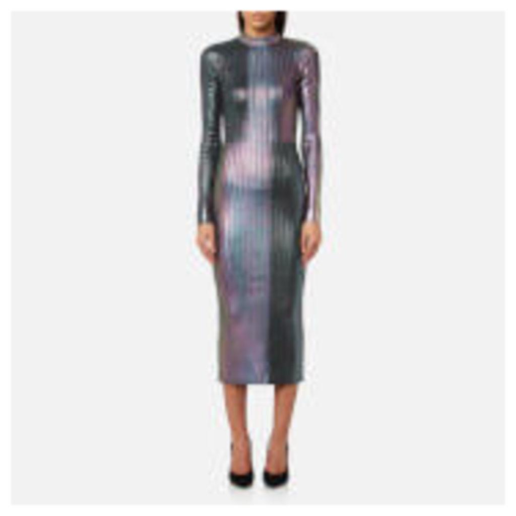 Christopher Kane Women's Long Foil Dress - Silver - XS - Silver