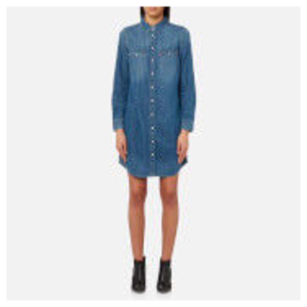 Levi's Women's Iconic Western Shirt Dress - San Fran Medium - XS - Blue