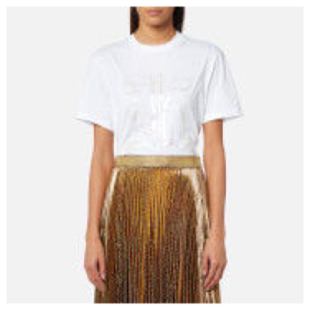 Christopher Kane Women's Melange K T-Shirt - White - M - White
