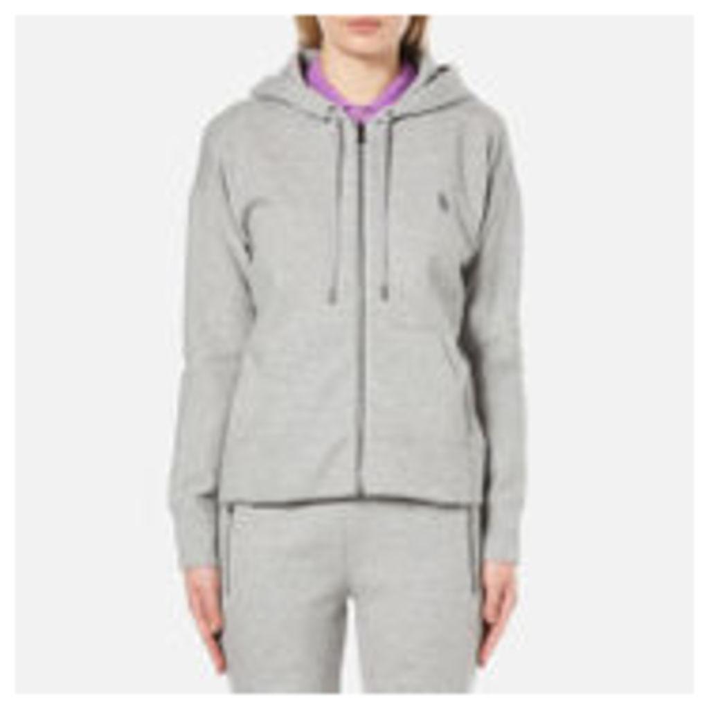 Polo Ralph Lauren Women's Full Zip Hooded Top - Andover Grey - M - Grey