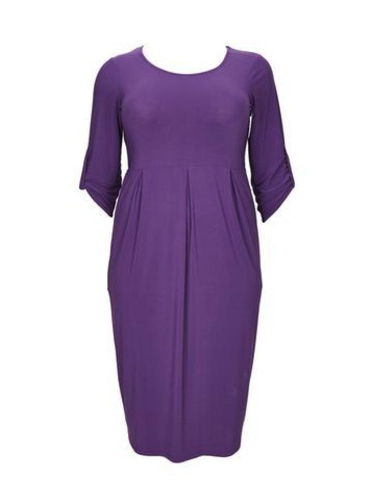 Purple Jersey Shift Dress, Purple