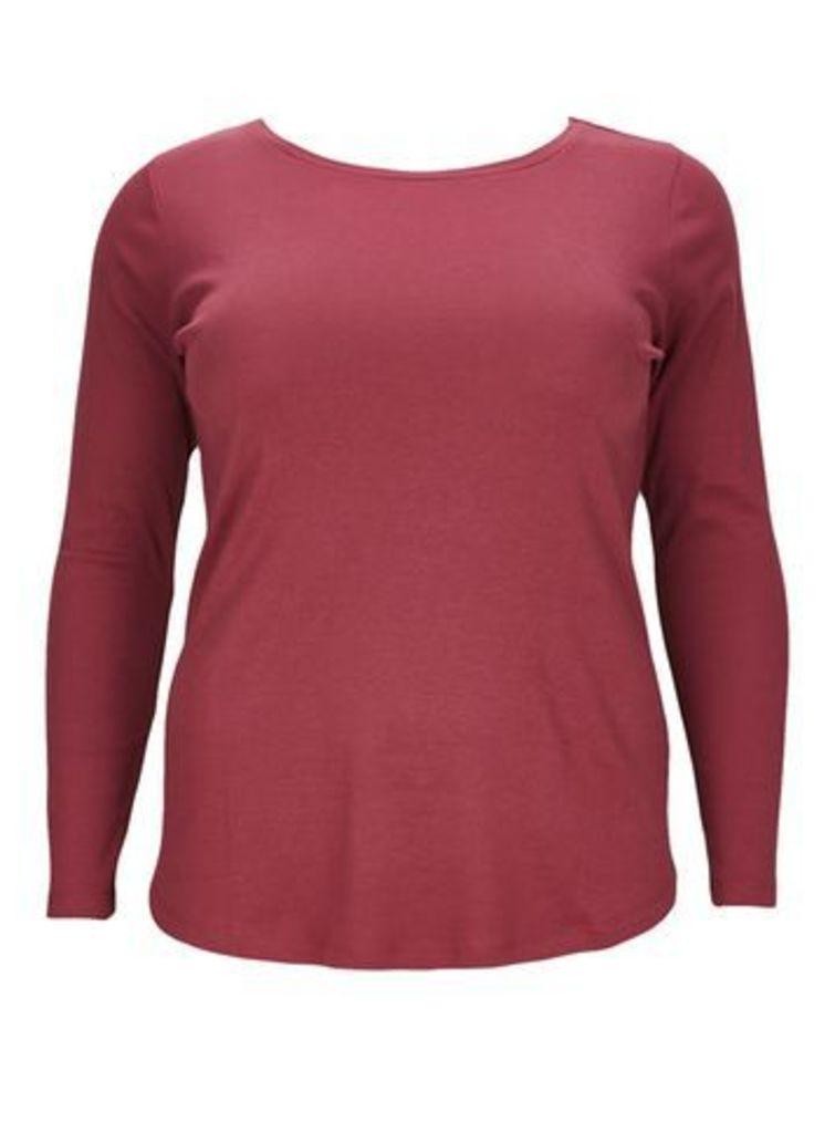 Poppy Red Long Sleeve T-Shirt, Dark Multi