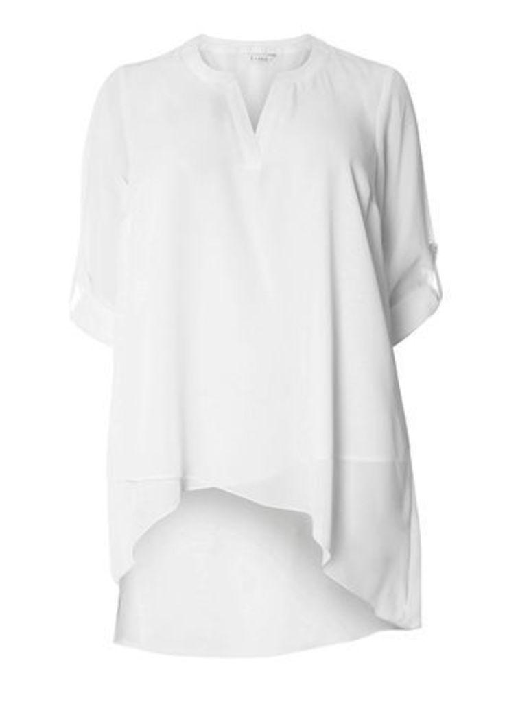 Ivory Asymmetric Shirt, Ivory