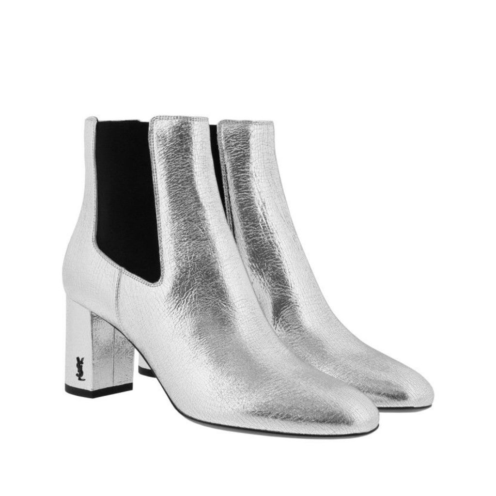 Saint Laurent Boots & Booties - Loulou 70 Chelsea Ankle Boot Silver - in silver - Boots & Booties for ladies