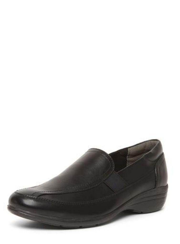Black Comfort Slip-On Shoes, Black