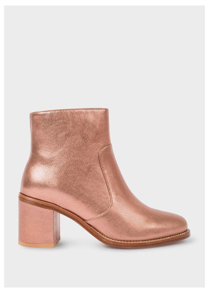 Women's Metallic Copper Leather 'Luna' Boots