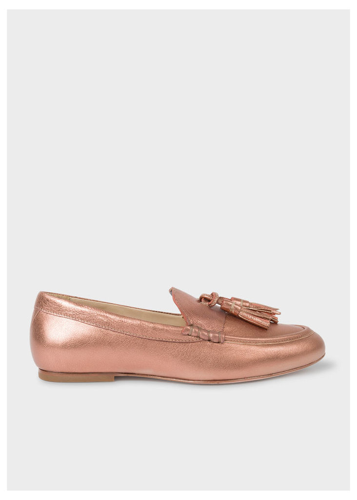 Women's Copper Leather 'Willow' Tasseled Loafers
