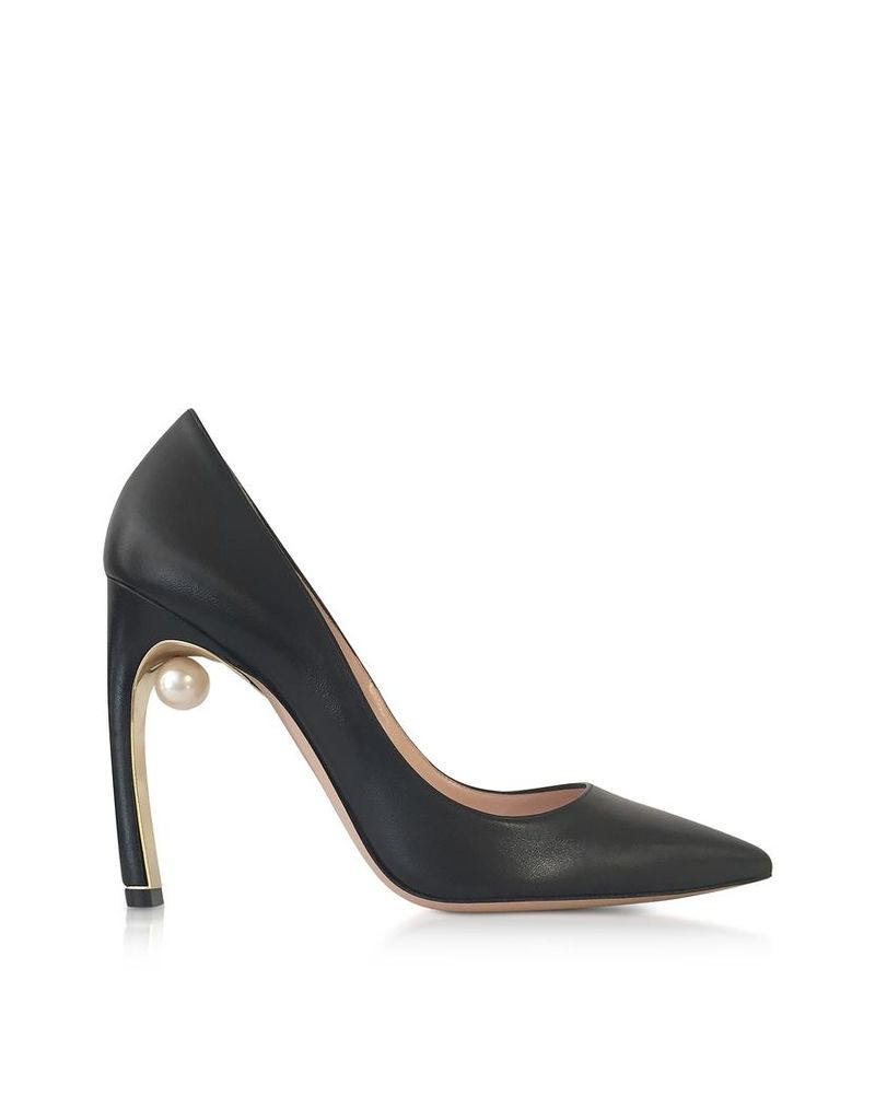 Nicholas Kirkwood Shoes, Black Nappa leather Mira Pearl Pumps