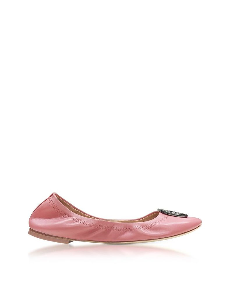 Tory Burch Shoes, Liana Pink Magnolia Leather Ballet Flats