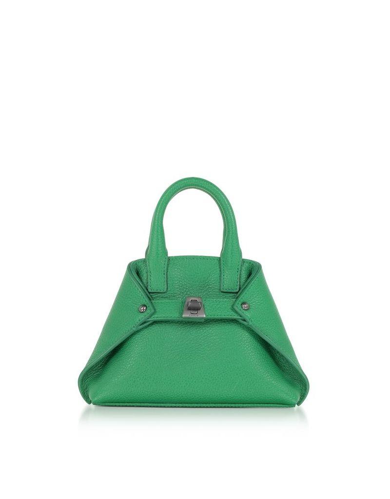 Akris Handbags, Aloe Green Leather Micro Ai Messenger Bag