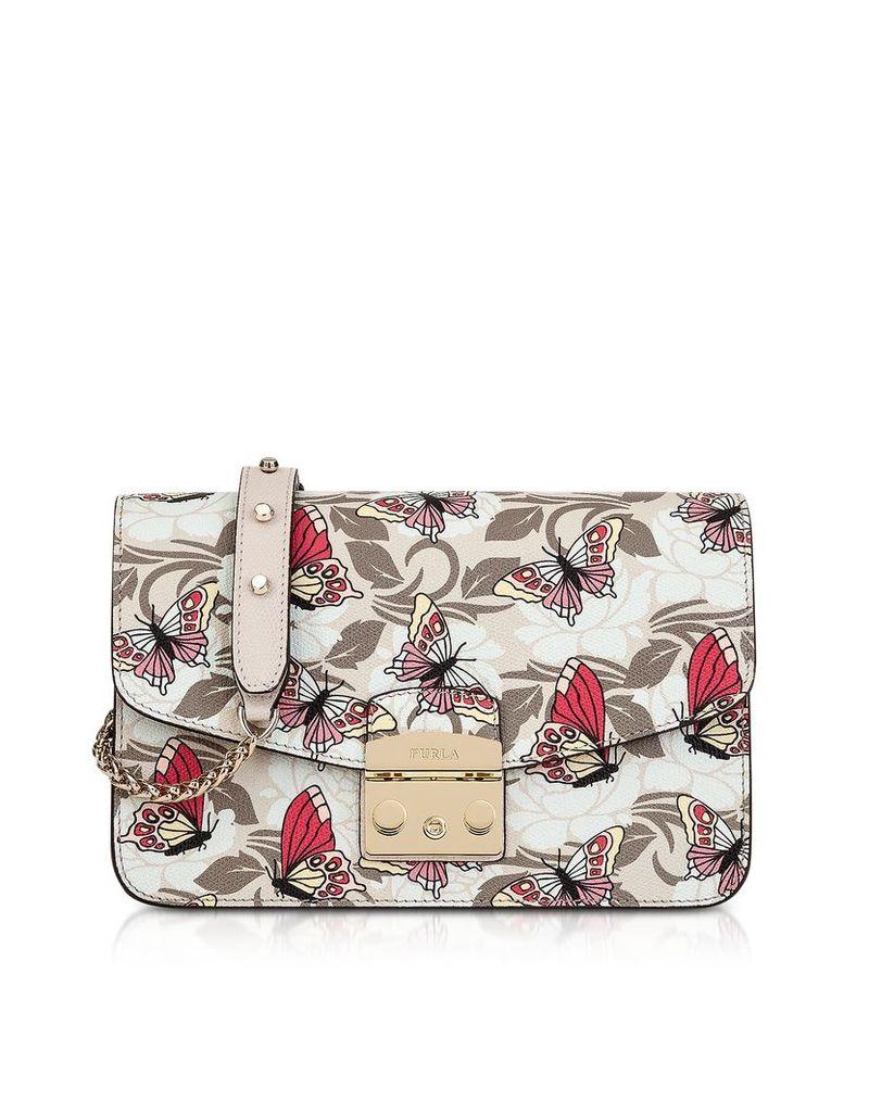 Furla Handbags, Toni Vaniglia Angelica Printed Leather Metropolis Small Shoulder Bag