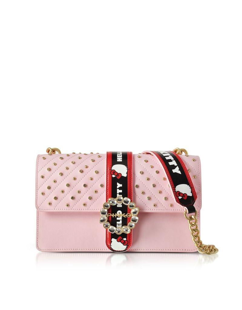 Pinko Handbags, Love Hello Kitty Jewel Pink Eco Leather Shoulder Bag
