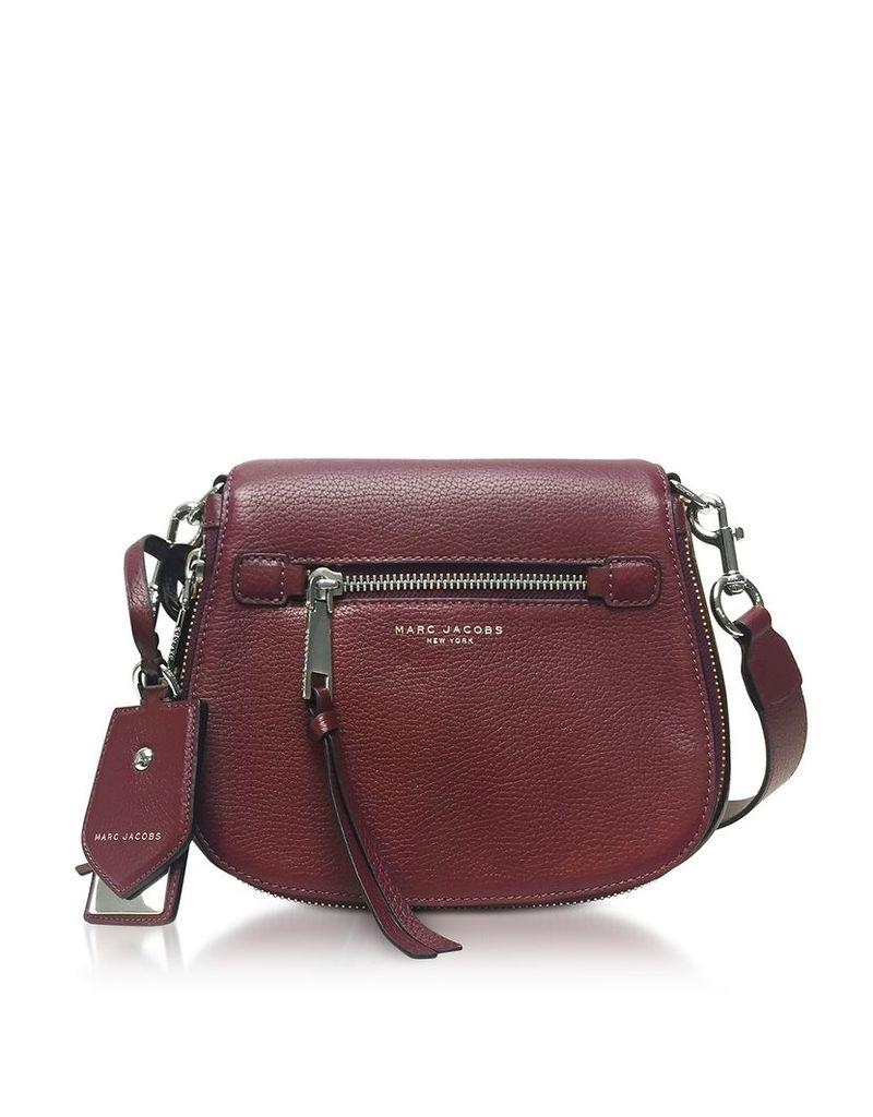 Marc Jacobs Handbags, Recruit Blackberry Leather Small Saddle Bag