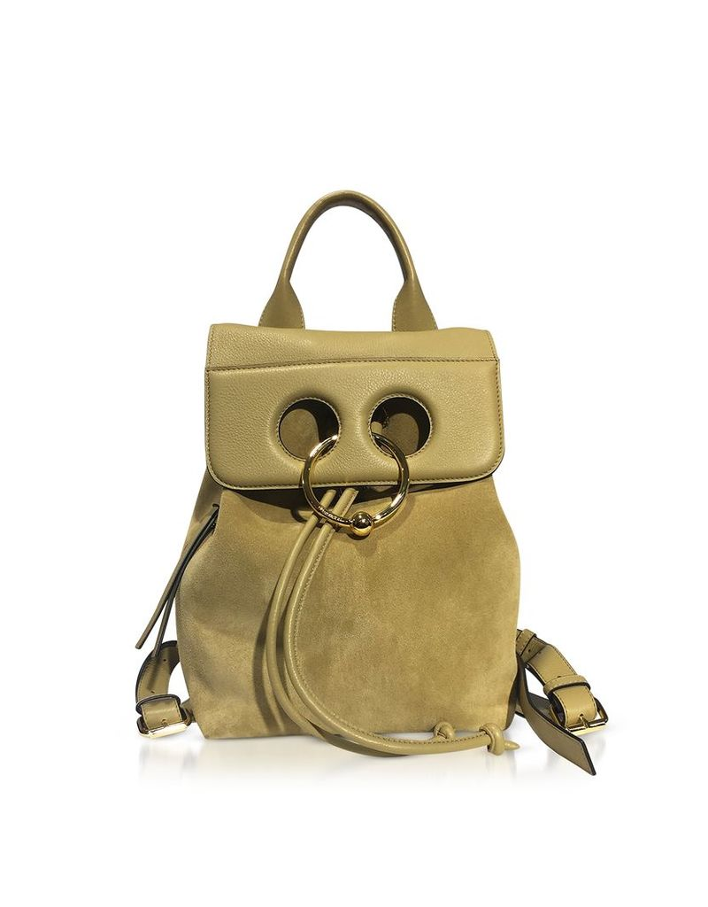 JW Anderson Handbags, Gold Suede and Leather Mini Pierce Backpack