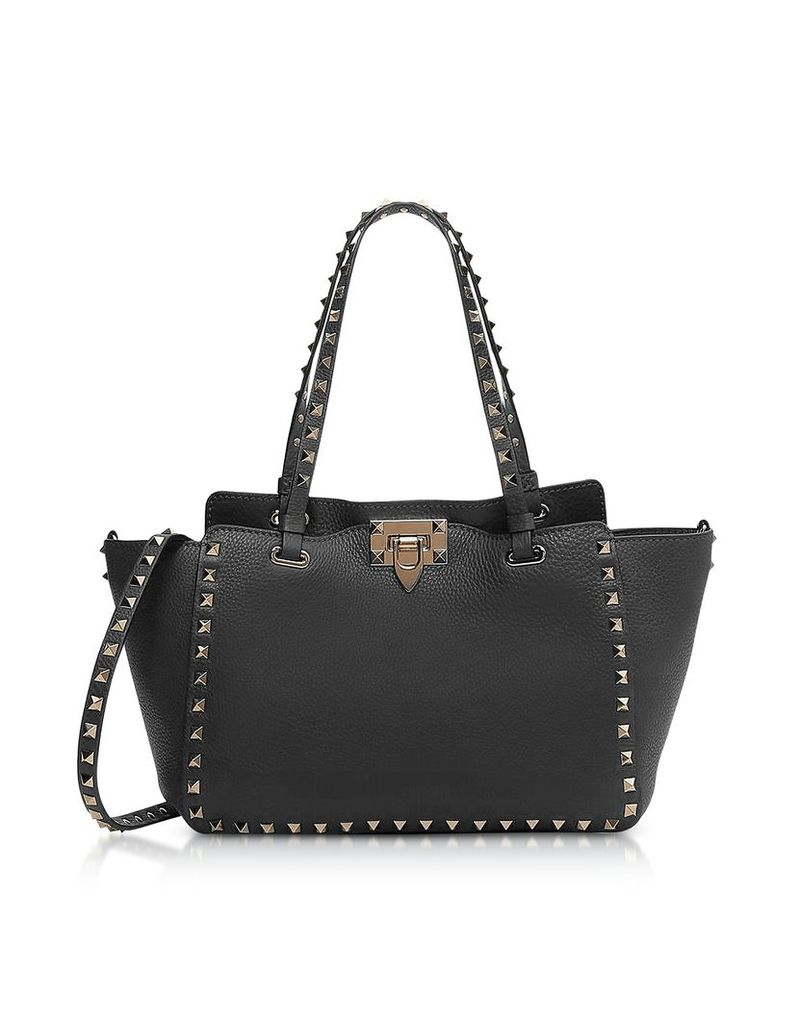 Valentino Handbags, Black Rockstud Leather Small Bag