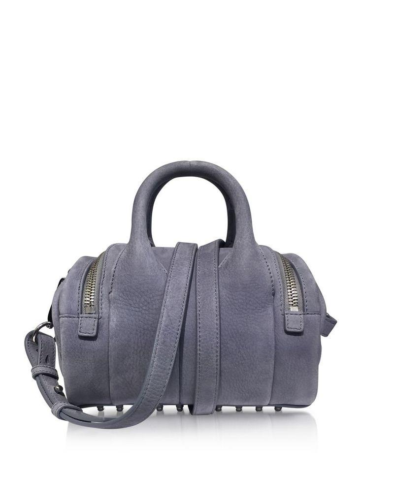 Alexander Wang Handbags, Mini Rockie Washed Denim Pebble Nubuck Satchel Bag