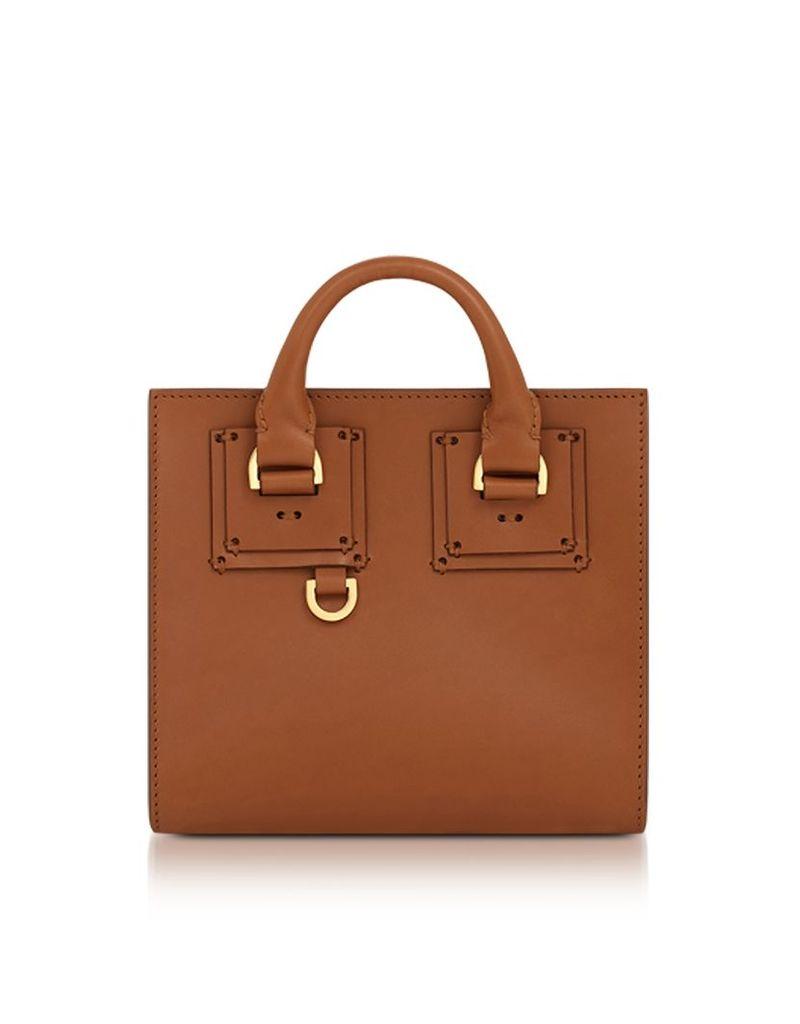 Sophie Hulme Handbags, Tan Albion Box Tote
