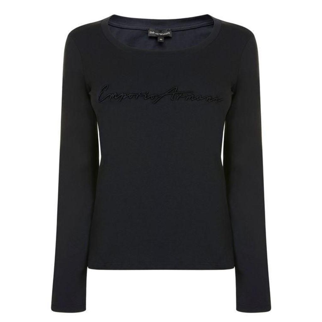 EMPORIO ARMANI Logo Long Sleeved T Shirt