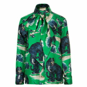 Gucci Wild Cat Blouse