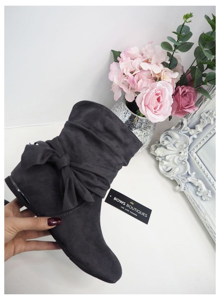 Taylee Suedette Bow Detailed Boots