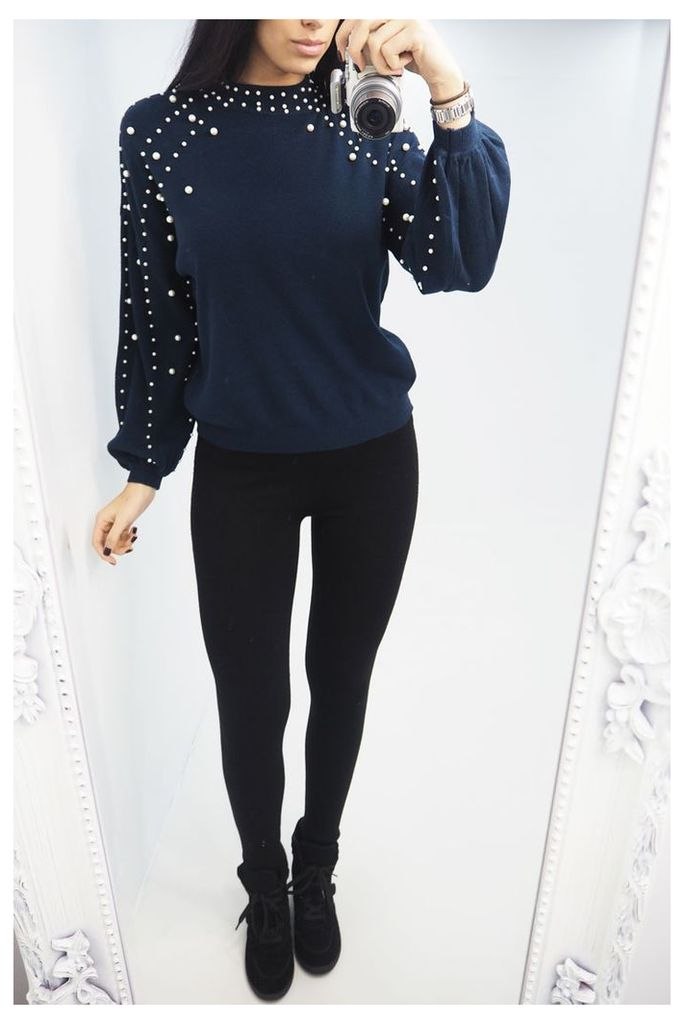 Zarlena Pearl Detailed Knitted Jumper