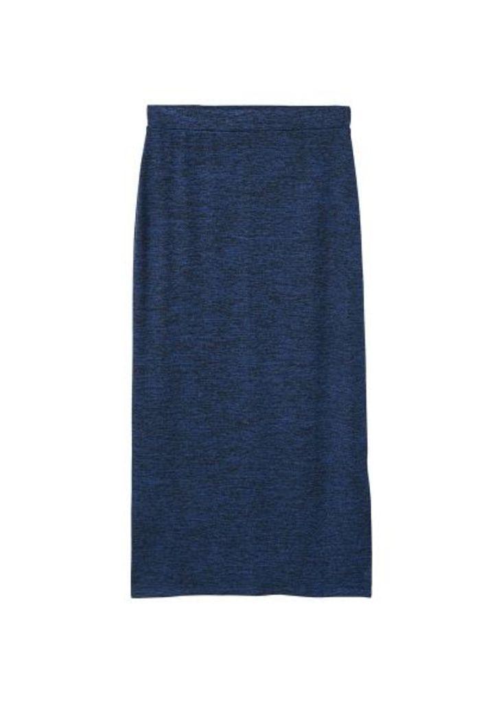 Flecked pencil skirt
