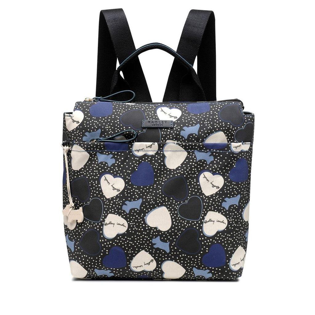 Radley London Hearts Oilskin Medium Zip-Top Backpack