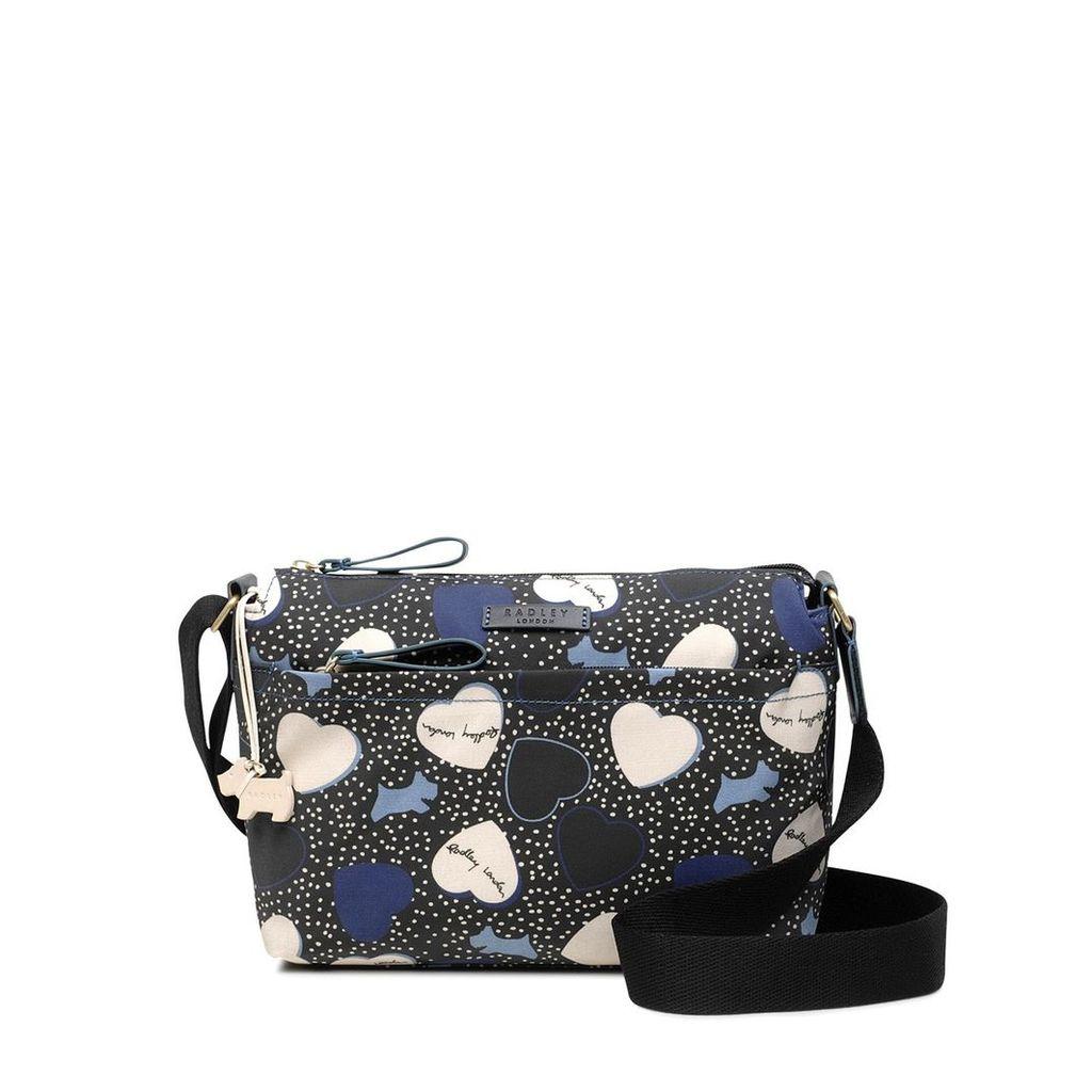 Radley London Hearts Oilskin Medium Zip-Top Cross Body Bag