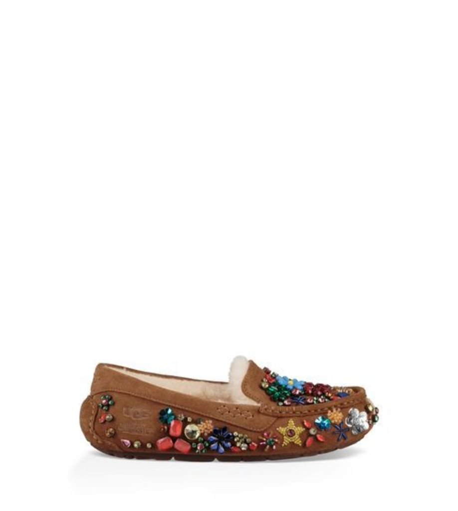 UGG Jeremy Scott Ansley Jewels Womens Slippers Chestnut 3