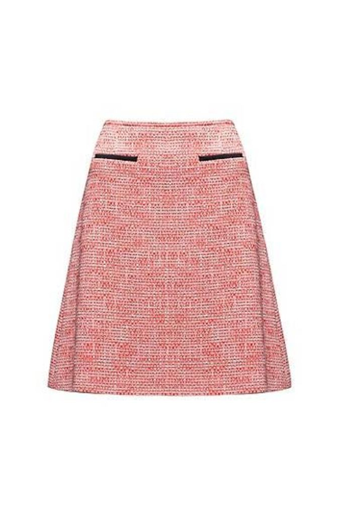A-line tweed skirt in a cotton blend