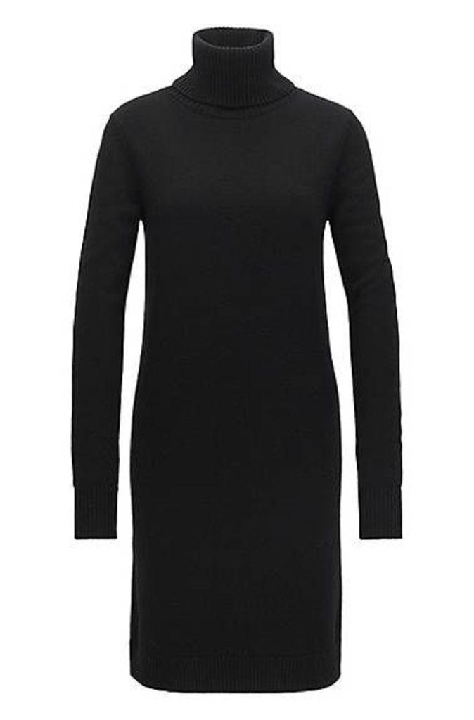 Roll-neck sweater dress in single jersey