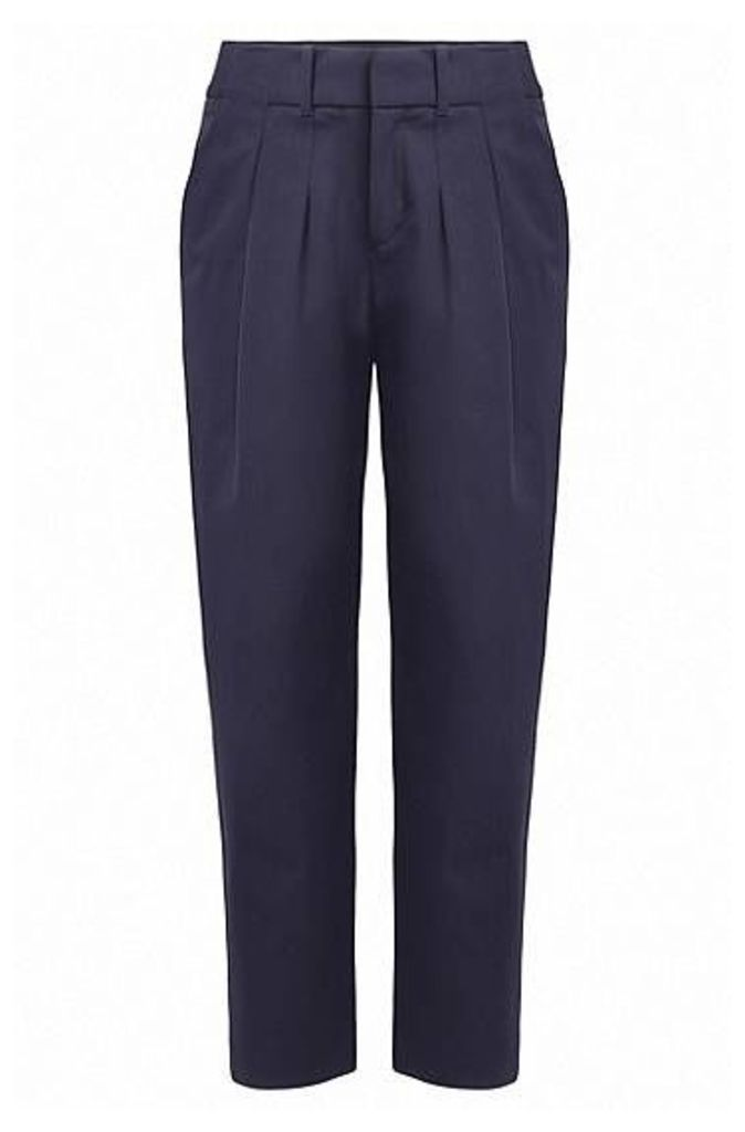 Relaxed-fit suit trousers in stretch twill