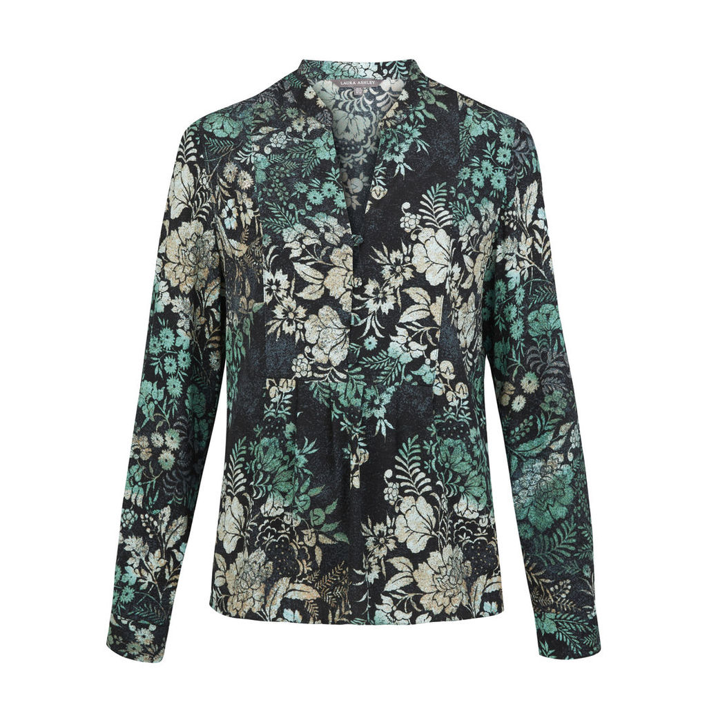 Woodblock Floral Blouse