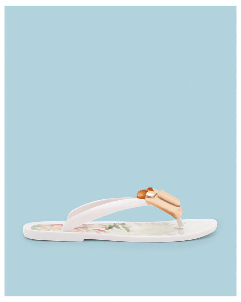 Ted Baker Bow detail flip flops Baby Pink
