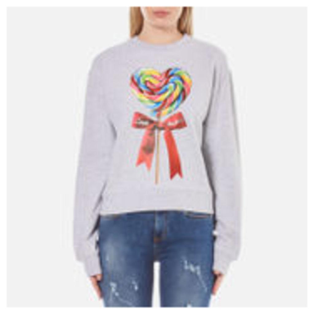 Love Moschino Women's Candy Bow Sweatshirt - Melange Grey - IT 42/UK 10 - Grey