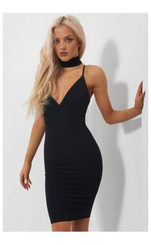 Isa Black Bodycon Dress