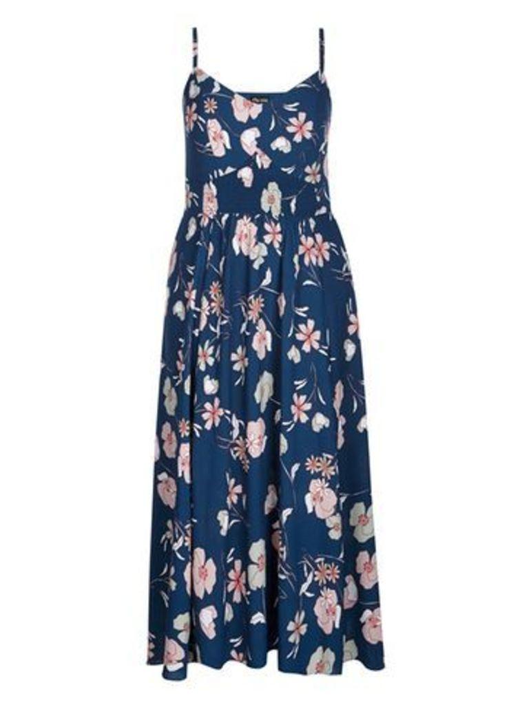 City Chic Floral Print Maxi Dress, Bright Multi