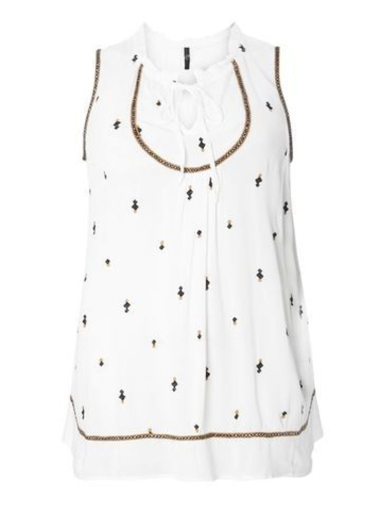 Ivory Embroidered Top, Ivory