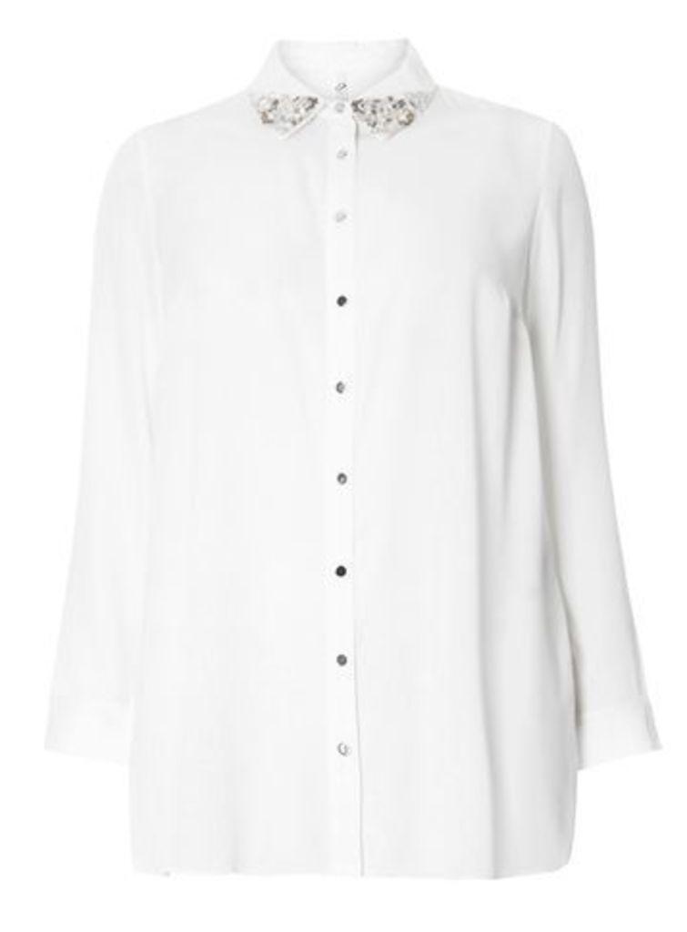 Ivory Embellished Shirt, Ivory