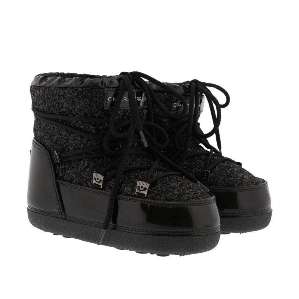Chiara Ferragni Boots & Booties - Snow Boot Black Glitter - in black - Boots & Booties for ladies