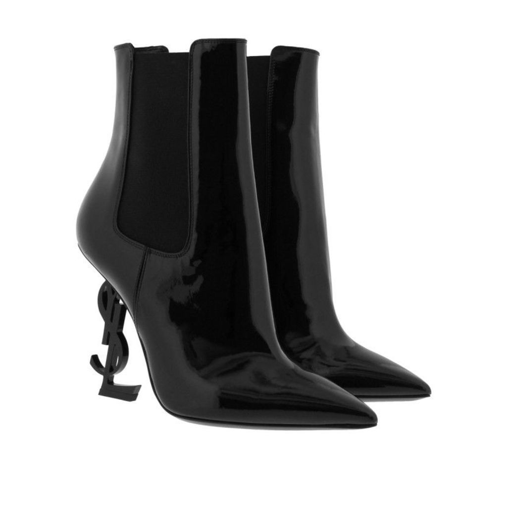 Saint Laurent Boots & Booties - Opyum 110 Bootie Patent Leather Black - in black - Boots & Booties for ladies