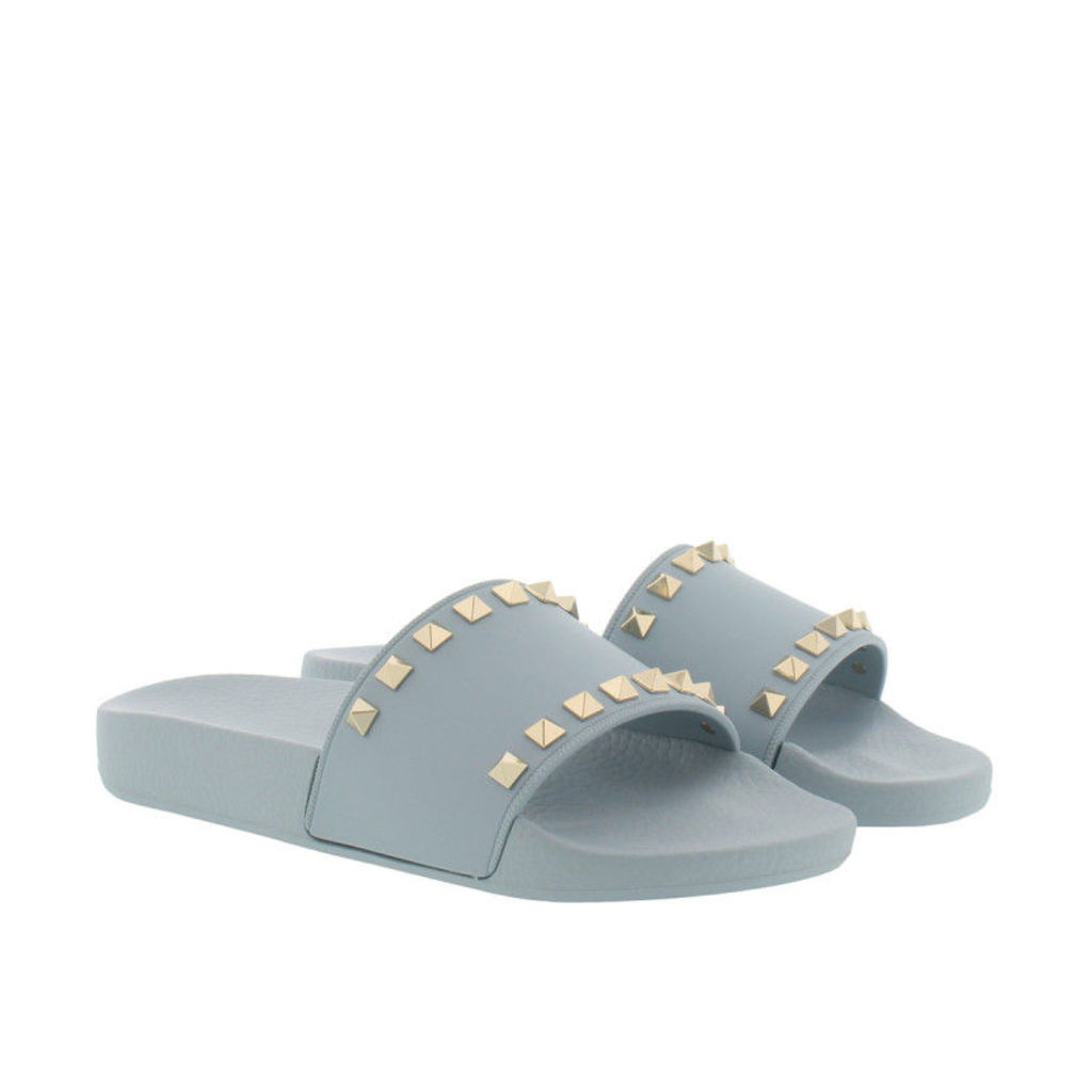 Valentino Sandals - Rockstud PVC Flip Flop Nube - in grey blue - Sandals for ladies