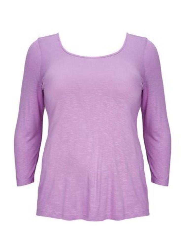 Purple 3/4 Sleeve Tee, Lilac