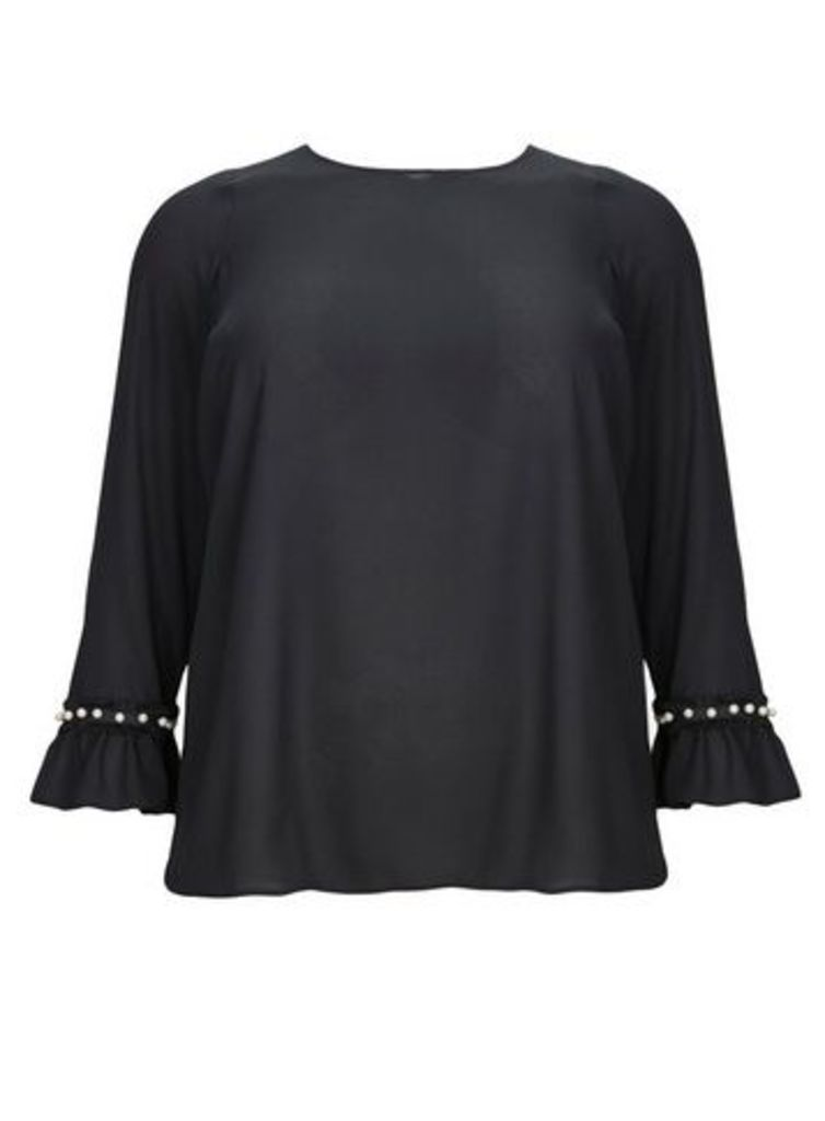 Black Pearl Trim Top, Black