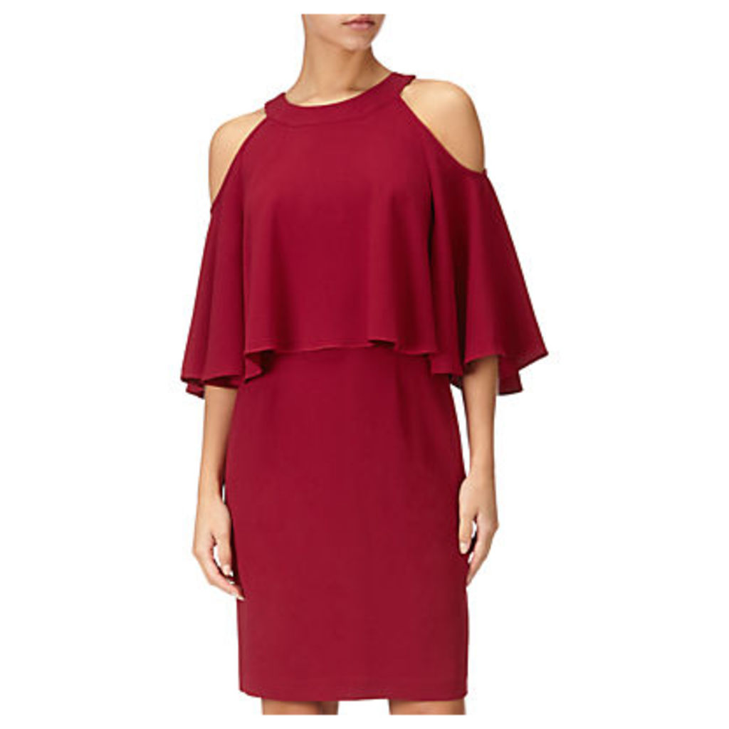 Adrianna Papell Plus Size Textured Crop Cold Shoulder Dress