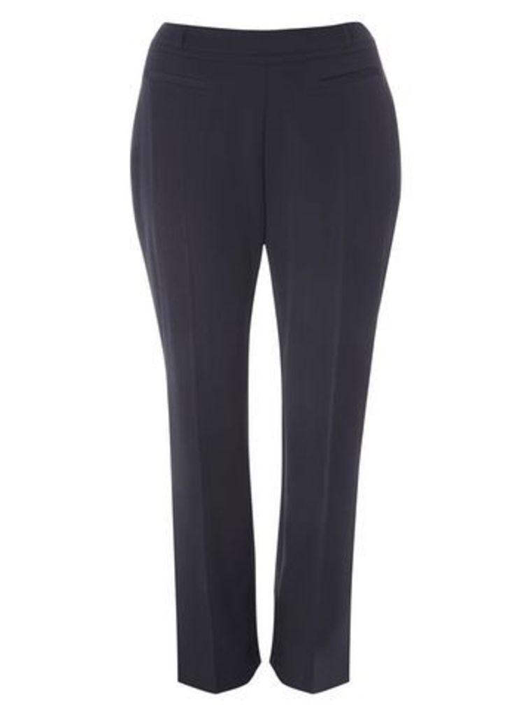 Navy Blue Straight Leg Trousers, Navy