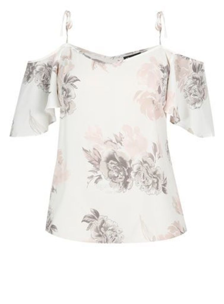 City Chic Blush Whimsy Floral Top, Blush