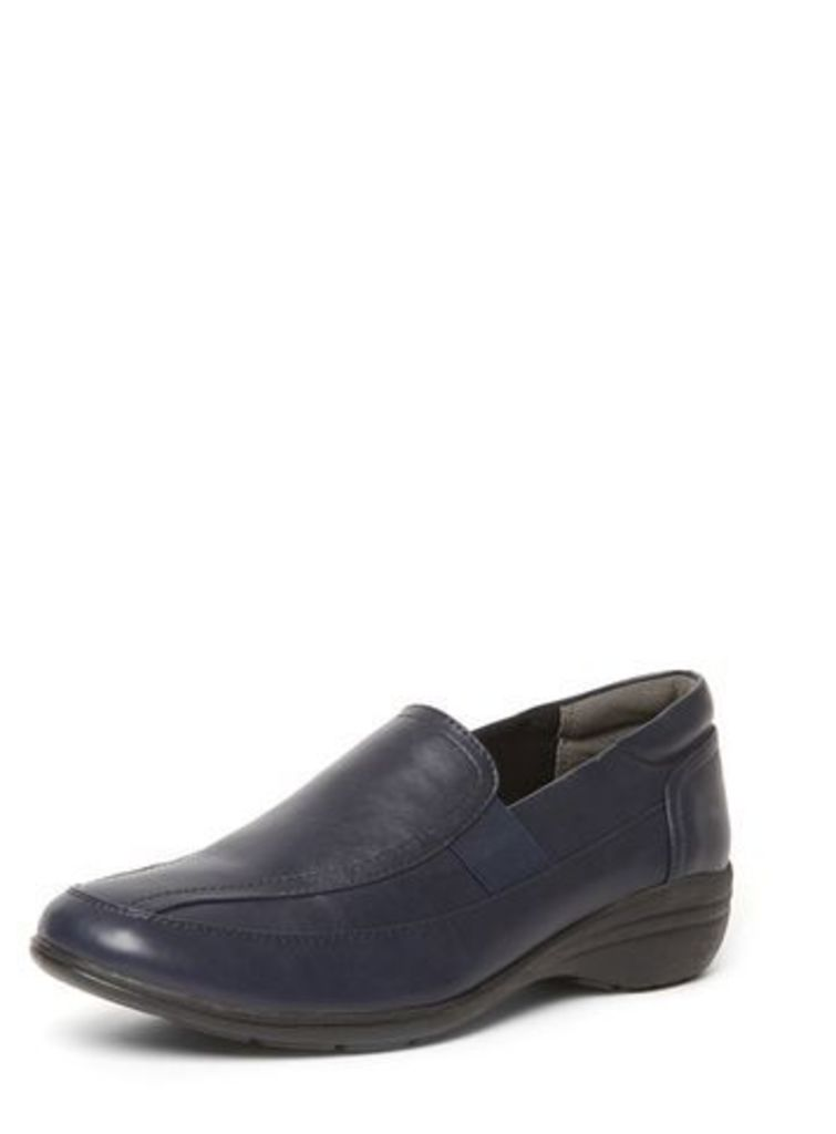 Navy Comfort Slip-On Shoes, Navy