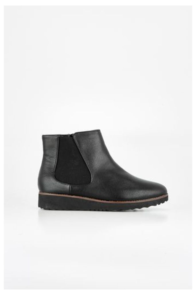 Black Chelsea Flatform Boots, Black