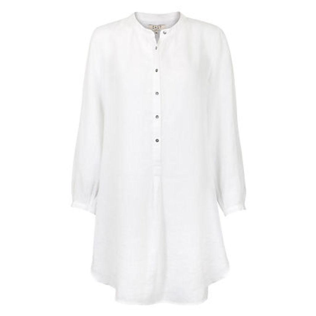 East Oversized Linen Tunic Shirt, White